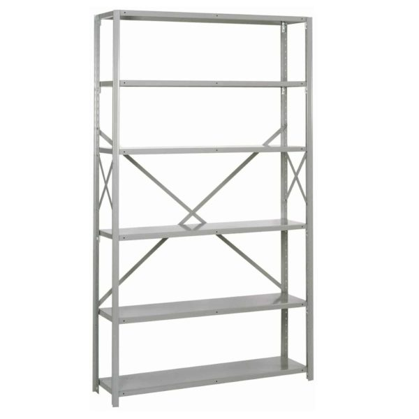 lyon 8000 series 48 inch wide 6 shelf open shelving starter