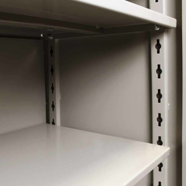 "Lyon All-Welded Cabinet Shelves - Heavy-duty 14 gauge flanged shelves have a 1,450 weight capacity and are adjustable on 3"" centers."