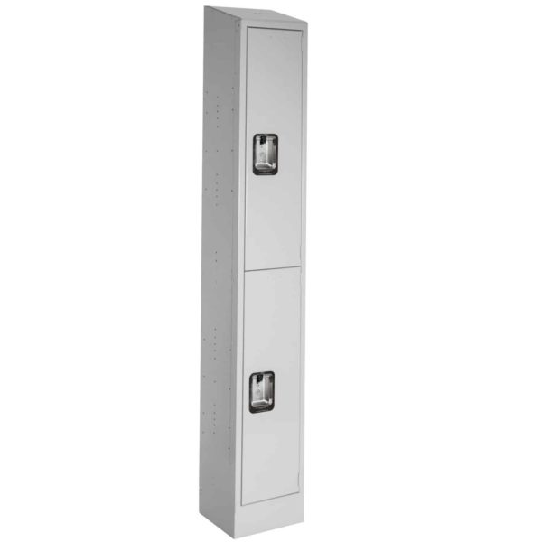 Lyon Antimicrobial Healthcare Locker Double Tier 1-wide