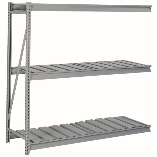 lyon bulk storage rack with ribbed decking 3 level add-on