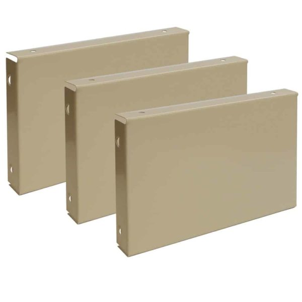 lyon locker accessories closed front base 3 pack putty