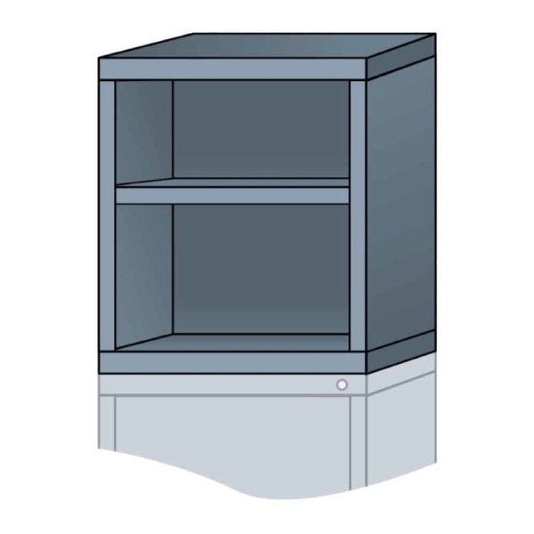 lyon modular cabinet open overhead unit slender wide 24 inch height N27223010500N